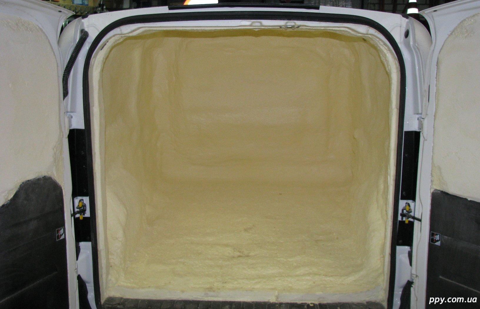 Термоизоляция пенополиуретаном Fiat Doblo Maxi